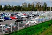 Storage of cars at logistic terminal